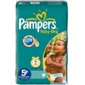 48 Couches Pampers Baby Dry taille 5+ sur Sos Couches