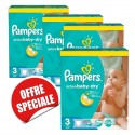 884 Couches Pampers Active Baby Dry taille 3 sur Sos Couches