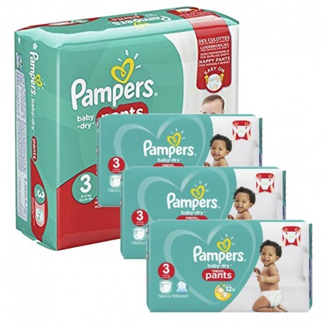 156 Couches Pampers Baby Dry Pants taille 3 sur Sos Couches