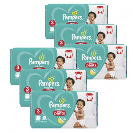 208 Couches Pampers Baby Dry Pants taille 3 sur Sos Couches