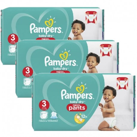 468 Couches Pampers Baby Dry Pants taille 3 sur Sos Couches