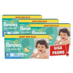 640 Couches Pampers Active Baby Dry taille 4+
