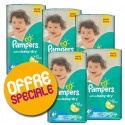 760 Couches Pampers Active Baby Dry taille 4+ sur Sos Couches