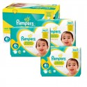 483 Couches Pampers New Baby Premium Protection taille 4+ sur Sos Couches