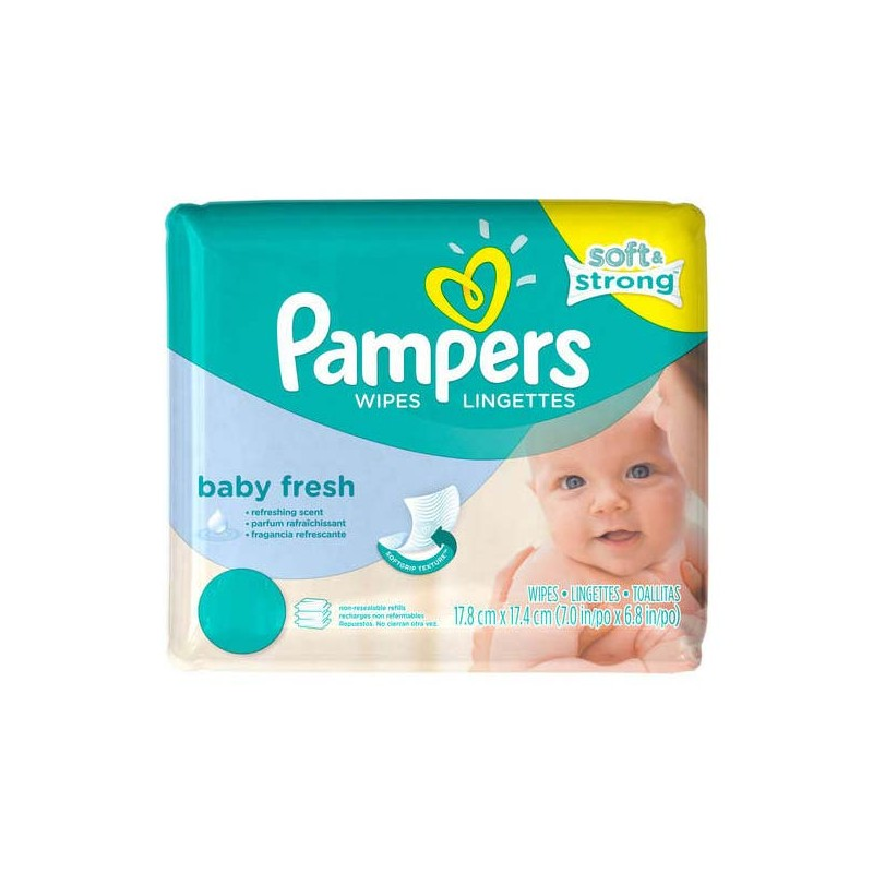 Achat 768 lingettes b b pampers baby fresh sur sos couches - Comparateur de prix couches pampers ...