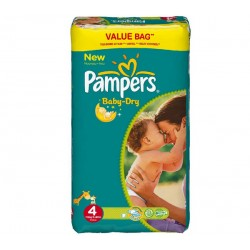 204 Couches Pampers Baby Dry taille 4