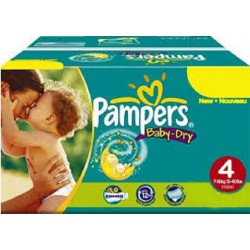 476 Couches Pampers Baby Dry taille 4