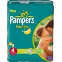 578 Couches Pampers Baby Dry taille 4 sur Sos Couches