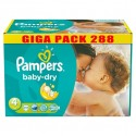 612 Couches Pampers Baby Dry taille 4 sur Sos Couches