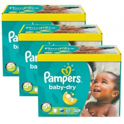 66 Couches Pampers Baby Dry taille 5+