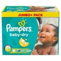 88 Couches Pampers Baby Dry taille 5+ sur Sos Couches