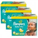 198 Couches Pampers Baby Dry taille 5+ sur Sos Couches
