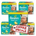 242 Couches Pampers Baby Dry taille 5+ sur Sos Couches