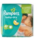 80 Couches Pampers Baby Dry taille 4+ sur Sos Couches