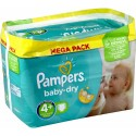 400 Couches Pampers Baby Dry taille 4+ sur Sos Couches