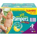 720 Couches Pampers Baby Dry taille 4+ sur Sos Couches
