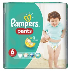 28 Couches Pampers Baby Dry Pants taille 6
