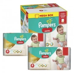 198 Couches Pampers Premium Care Pants taille 4