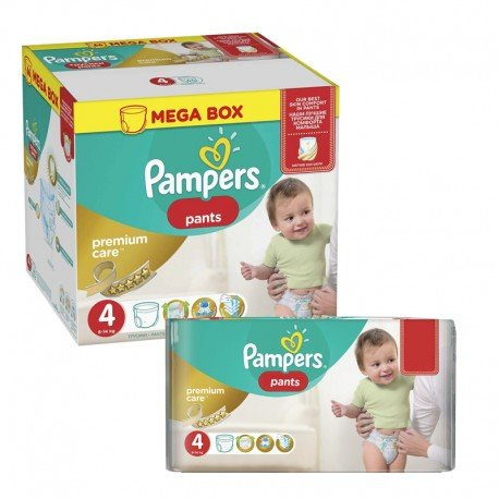 396 Couches Pampers Premium Care Pants taille 4 sur Sos Couches