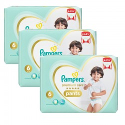 72 Couches Pampers Premium Care Pants taille 6