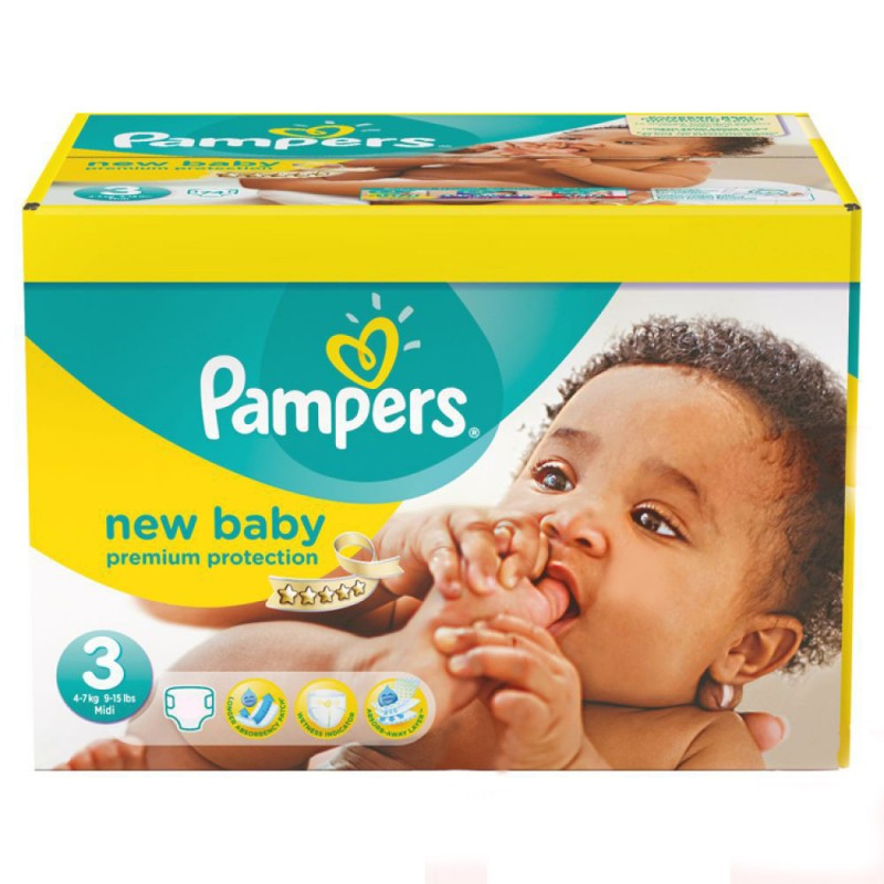 Achat 54 couches pampers new baby taille 3 moins cher sur - Prix couches pampers new baby taille 1 ...