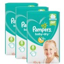 180 Couches Pampers Baby Dry taille 8 sur Sos Couches