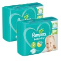 200 Couches Pampers Baby Dry taille 8 sur Sos Couches