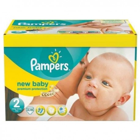 160 Couches Pampers New Baby taille 2 sur Sos Couches