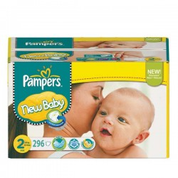 400 Couches Pampers New Baby Premium Protection taille 2