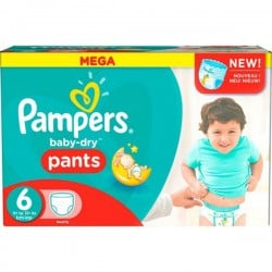 540 Couches Pampers Baby Dry Pants taille 6