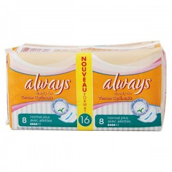 16 Serviettes hygiéniques Always Simply Fits taille normal plus