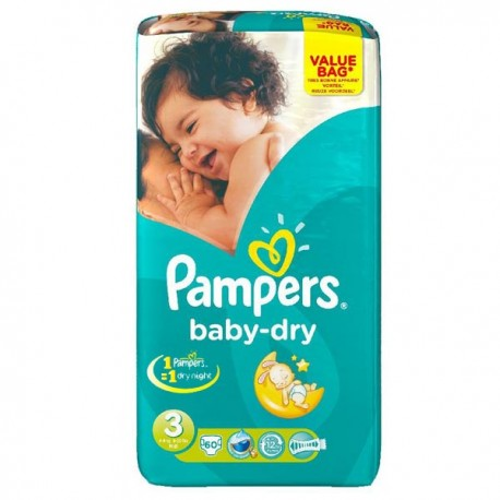 Achat 72 couches pampers baby dry night taille 3 pas cher - Couches pampers baby dry taille 3 ...