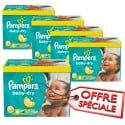 340 Couches Pampers Baby Dry taille 5+ sur Sos Couches