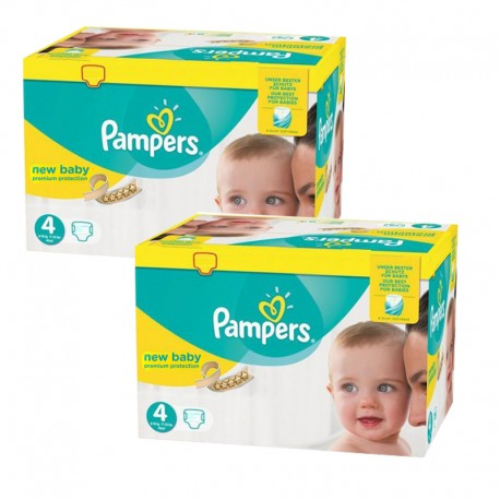 128 Couches Pampers New Baby Premium Protection taille 4 sur Sos Couches