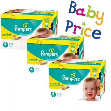 448 Couches Pampers New Baby Premium Protection taille 4 sur Sos Couches