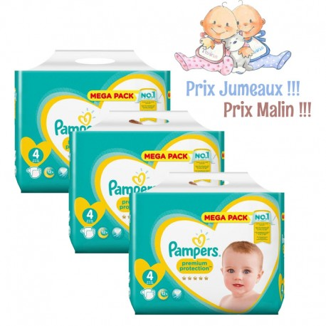 512 Couches Pampers New Baby Premium Protection taille 4 sur Sos Couches