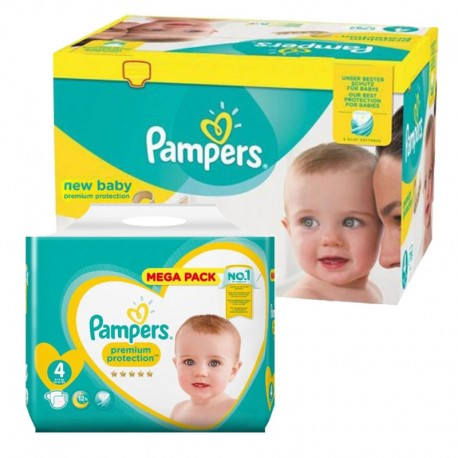 640 Couches Pampers New Baby Premium Protection taille 4 sur Sos Couches