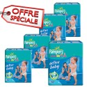 168 Couches Pampers Active Baby Dry taille 6 sur Sos Couches