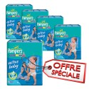 210 Couches Pampers Active Baby Dry taille 6 sur Sos Couches