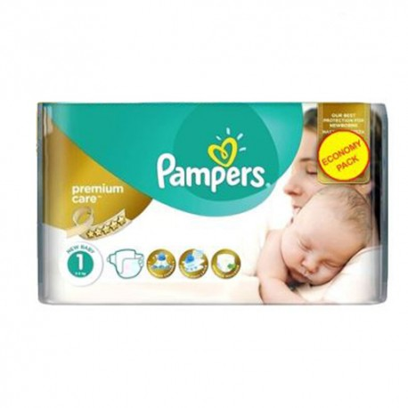 22 Couches Pampers New Baby Premium Care taille 1 sur Sos Couches