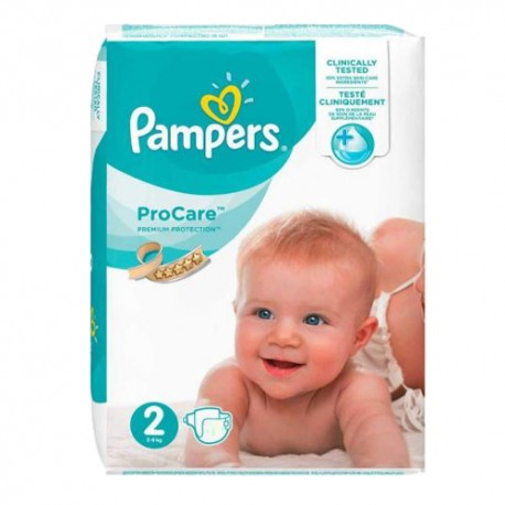 36 Couches Pampers ProCare Premium protection taille 2 sur Sos Couches
