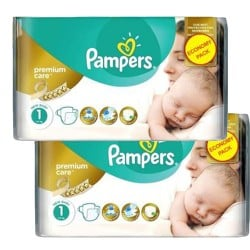 110 Couches Pampers New Baby Premium Care taille 1