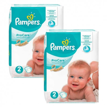 216 Couches Pampers ProCare Premium protection taille 2 sur Sos Couches