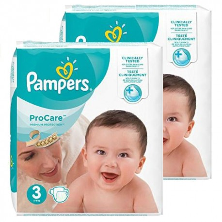 128 Couches Pampers ProCare Premium protection taille 3 sur Sos Couches