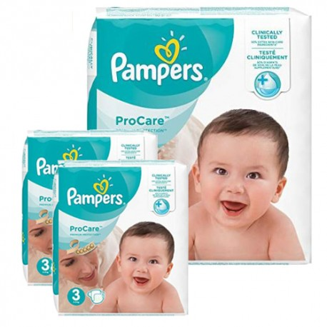 160 Couches Pampers ProCare Premium protection taille 3 sur Sos Couches