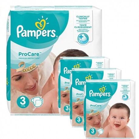 256 Couches Pampers ProCare Premium protection taille 3 sur Sos Couches