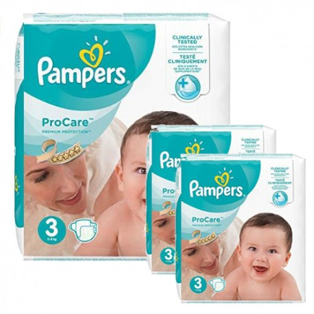 480 Couches Pampers ProCare Premium protection taille 3 sur Sos Couches