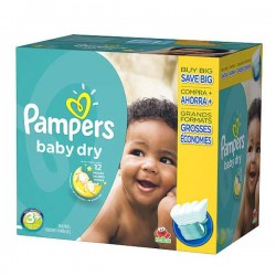 340 Couches Pampers Baby Dry 3+