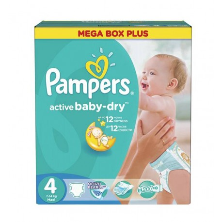 299 Couches Pampers Active Baby Dry taille 4 sur Sos Couches
