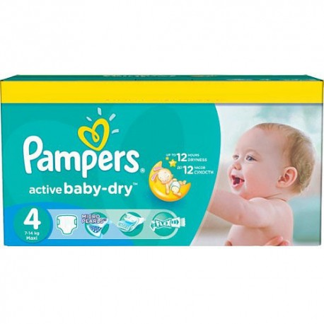 624 Couches Pampers Active Baby Dry taille 4 sur Sos Couches
